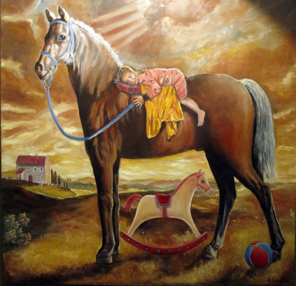 Painting dedicated to Portia Oil on canvas