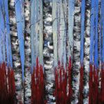 Bosque encendido oil on canvas 40''x30''
