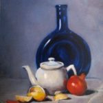 Botella azul oil on canvas 12''x10''