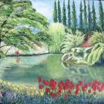 Butchard garden oli on canvas 24x30''