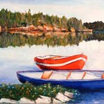 Cottage Country 5  (Serene Morning) 15x30''