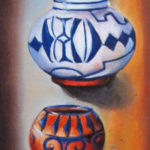 Flotando oil on canvas 36''x12''