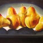 Golden Pears 60 X 100 cm