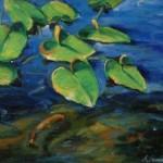 Lilies & Fish (10X12'')