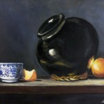 Oaxacan pot & porcelain oil on canvas 18x24''