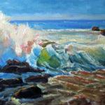 Olas de arcoiris oil on canvas 12''x16''