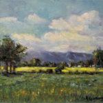 Paisaje oil on canvas 10''x12''