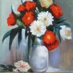 Red & White (24x18'')
