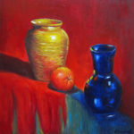 Tres oil on canvas 20''x20''