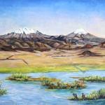 Valle de Mexico oleo sobre tela 24x30''