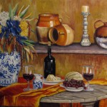 country kitchen oil on canvas 30x48'' (2)