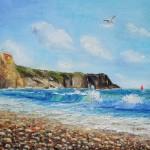 la puerta al mar oil on canvas 18x24''