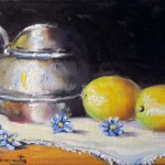 limones oil on canvas 6x8''