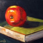 manzana oil on canvas 6x8''