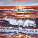 reflections oil on cavas 30x12''