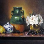 stilllife and pots oil on canvas 18x24''